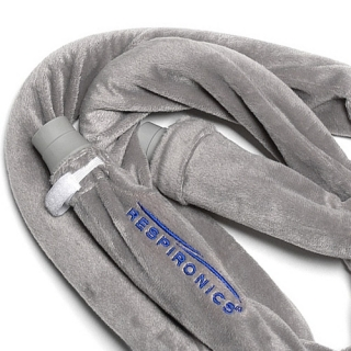 Silver Fleece CPAP Tubing Wrap Hose Covers (6-Foot)