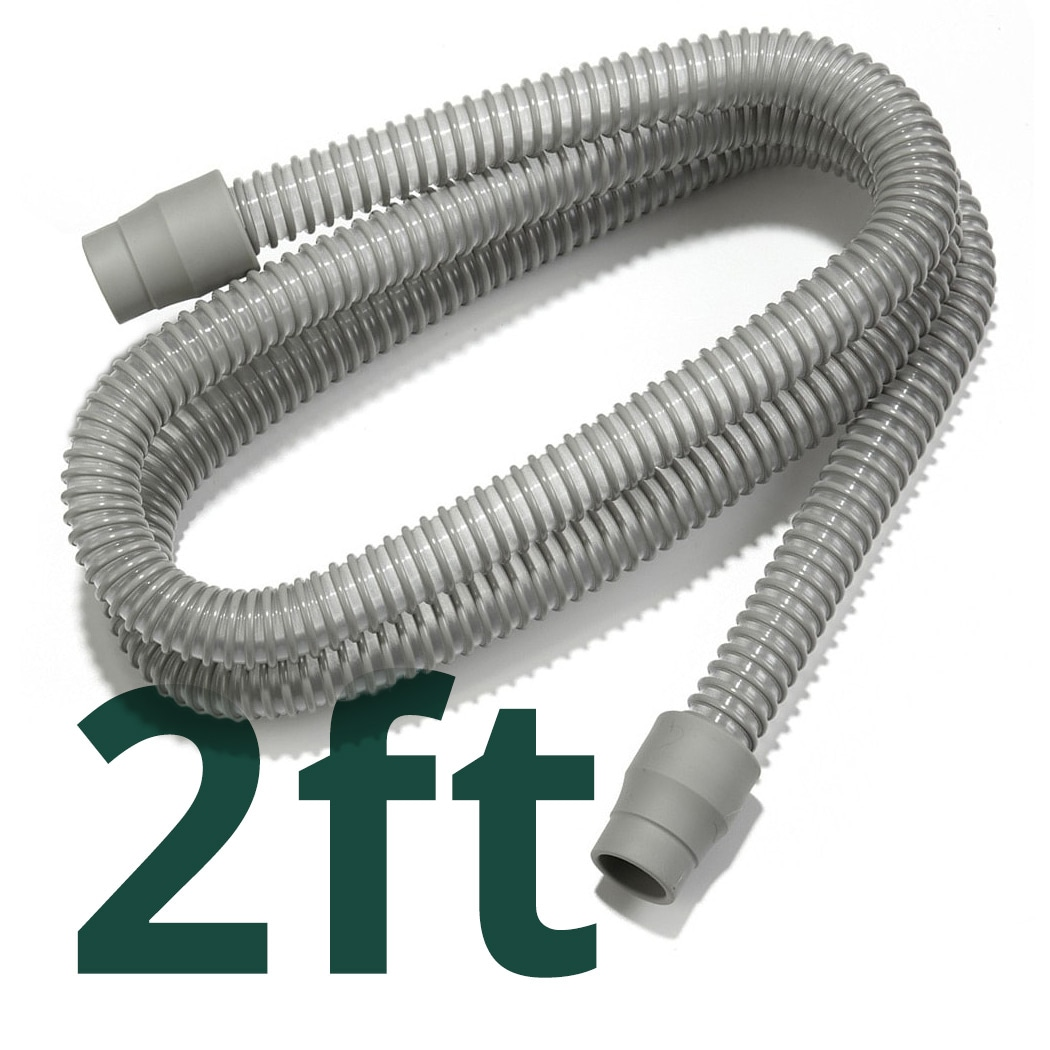 Standard Smooth Bore CPAP/BiPAP Hose Tubing (2-Foot Connector Tube)