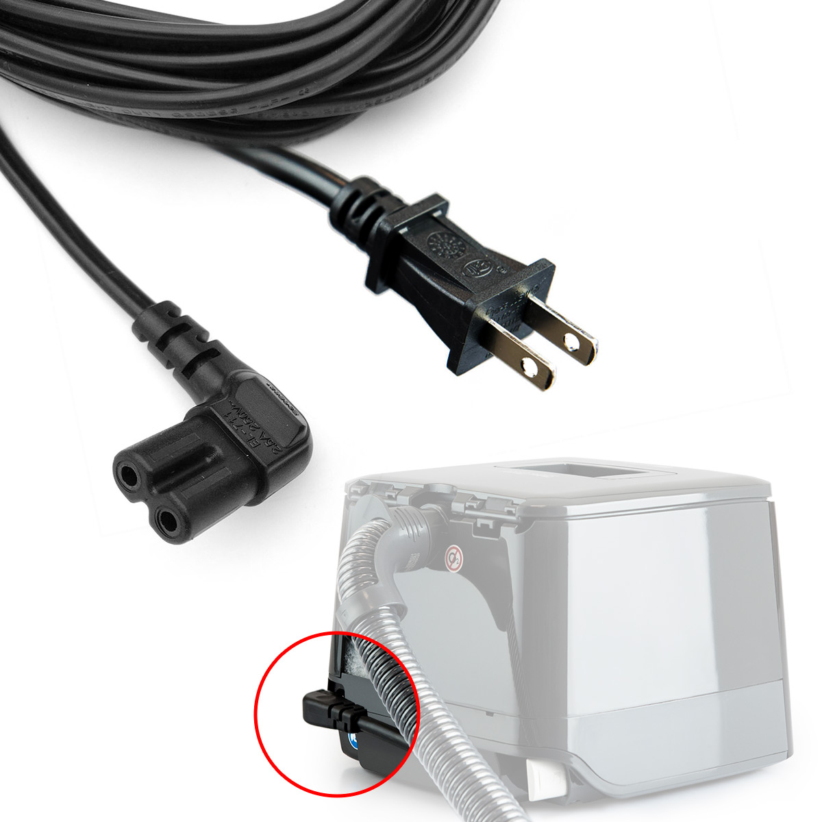 AC Power Cord for F&P SleepStyle Series CPAP Machines