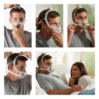 DreamWear Full Face CPAP/BiPAP Mask FitPack with Headgear