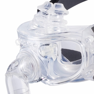 Hybrid Full Face Nasal Pillow CPAP/BiPAP Mask with Headgear