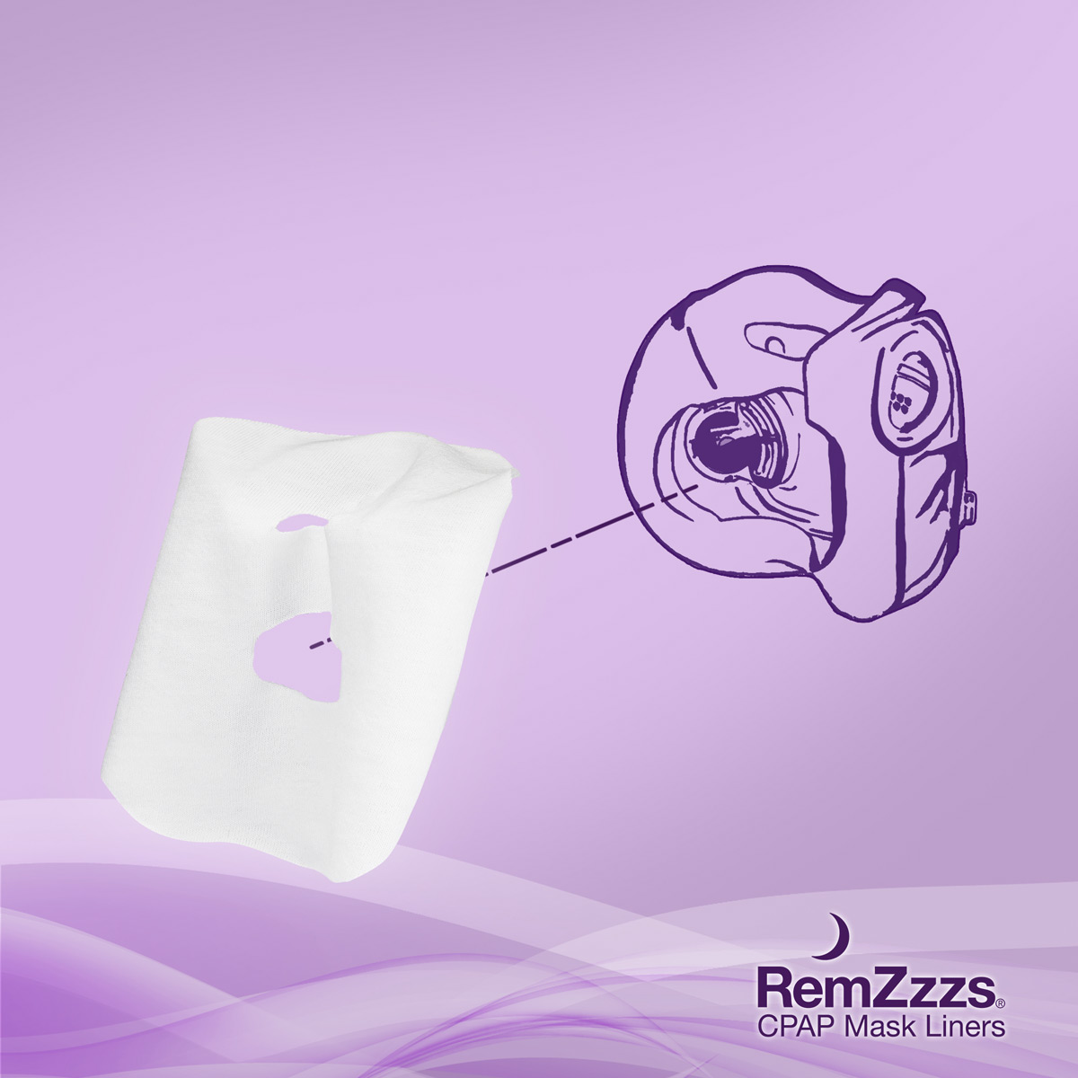 RemZzzs CPAP/BiPAP Mask Liners for Minimal Contact Full Face Masks (30-Night Supply)