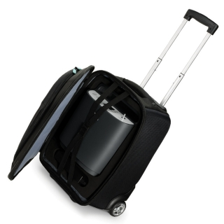 Travel Luggage Case with Telescoping Handle for SimplyGo Oxygen Concentrators - DISCONTINUED