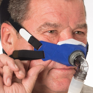 SleepWeaver 3D Soft Cloth Nasal CPAP/BiPAP Mask with Headgear (FeatherWeight Tube & Clip Free)