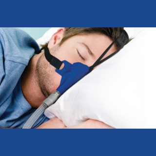 SleepWeaver Advance Soft Cloth Nasal CPAP/BiPAP Mask with Headgear (FeatherWeight Tube Free)