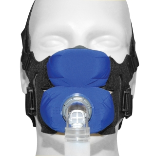 SleepWeaver Anew Soft Cloth Full Face CPAP/BiPAP Mask with Headgear (FeatherWeight Tube Free)
