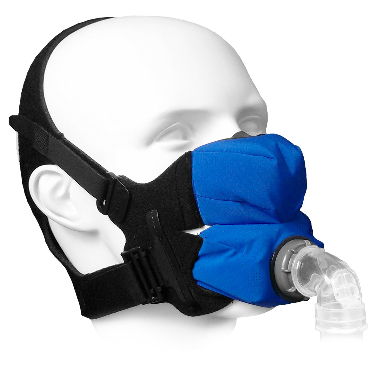 SleepWeaver Anew Soft Cloth Full Face CPAP/BiPAP Mask with Headgear
