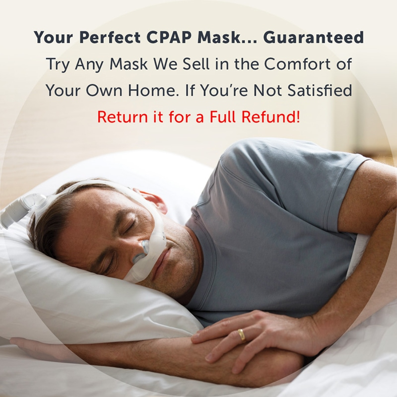Free 30-Day Money Back Guarantee on These Great CPAP/BiPAP Masks