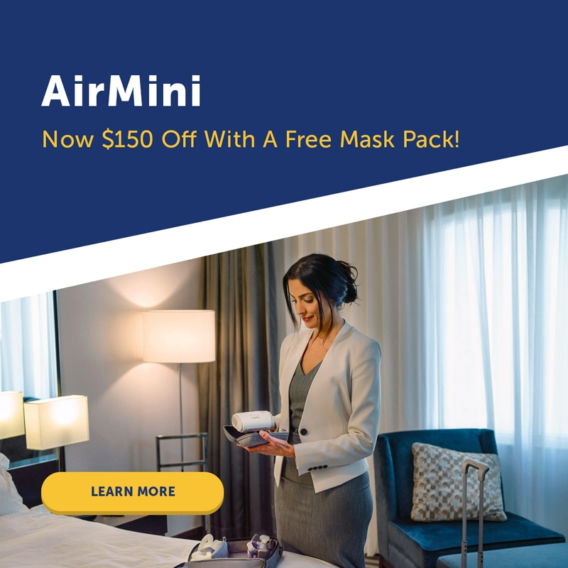 AirMini™ AutoSet Travel Auto-CPAP Machine System with Free Mask
