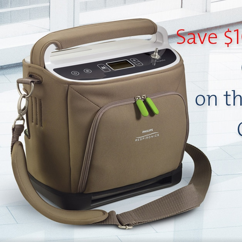 Respironics SimplyGo Portable Oxygen Concentrator Bundle