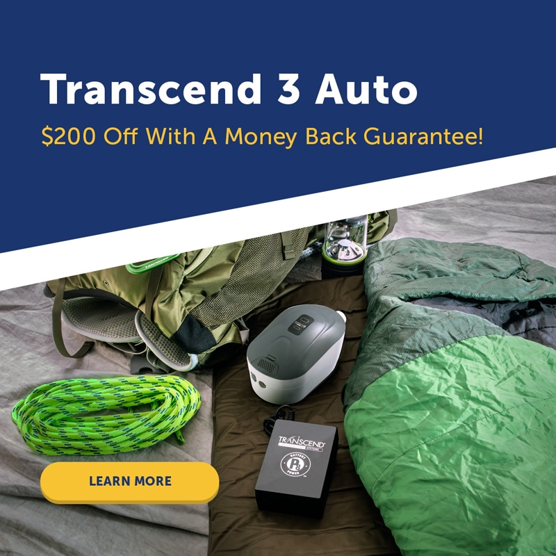Transcend 3 Auto miniCPAP Machine Package